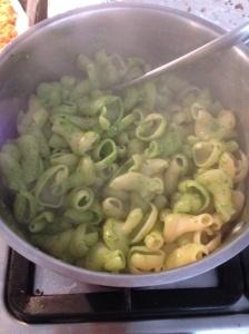 Lean Green Pesto Pasta