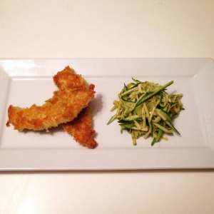Parmesan chick courgettini