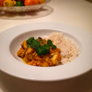 Cod coconut curry