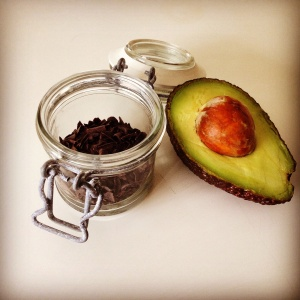 Avocado and raw choc